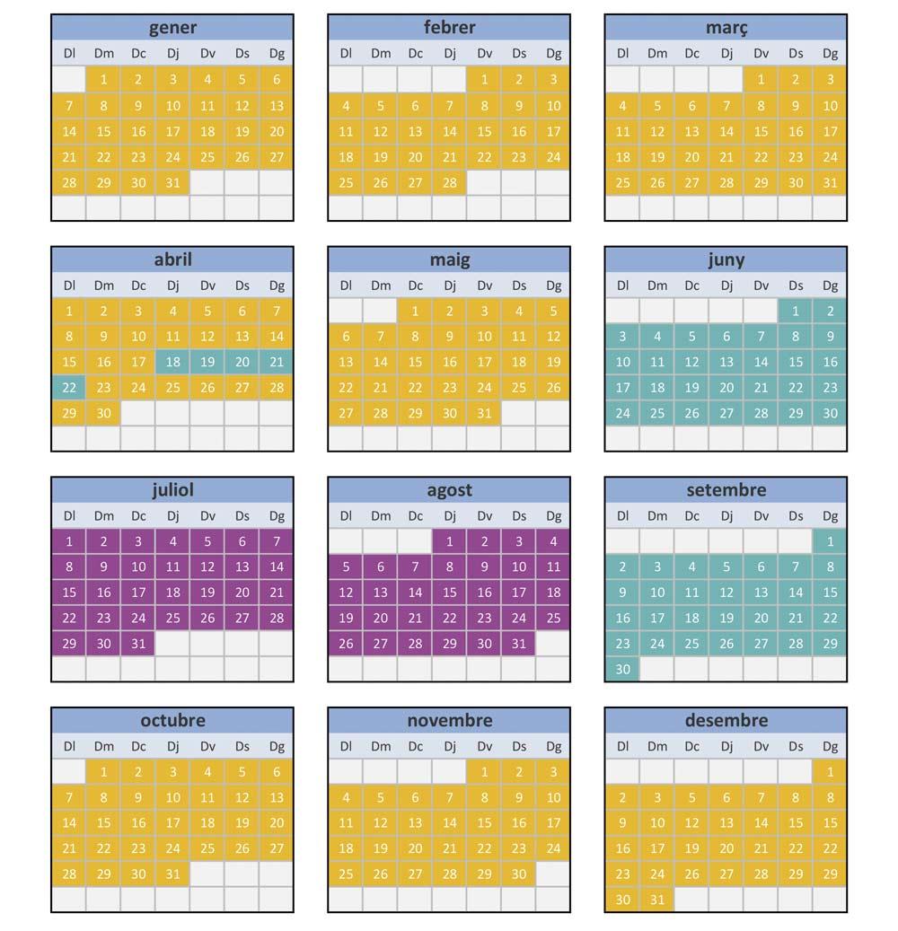calendari 2019 caravaning lleida autocaravanes lloguer